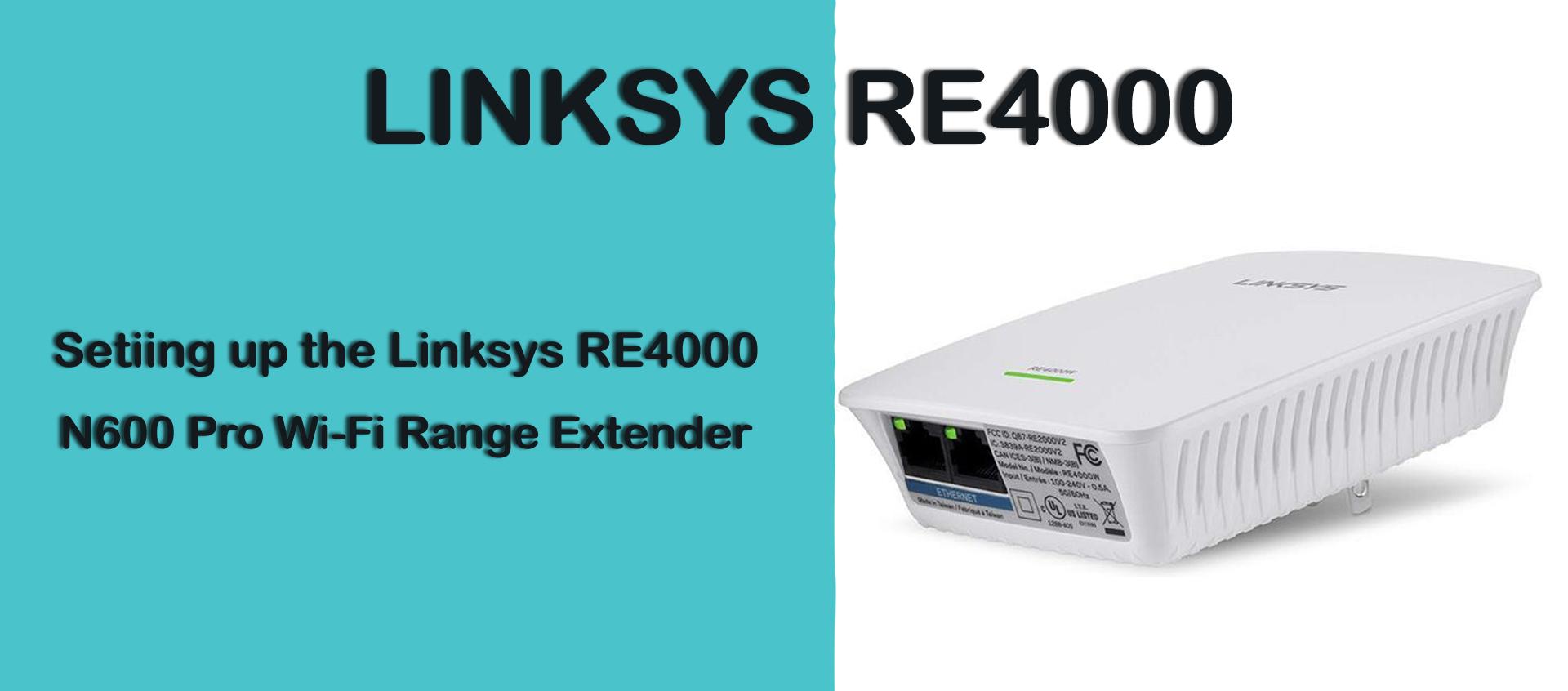 linksys re4000w dual-band extender setup